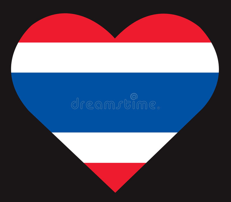 在心脏象,泰国旗子传染媒介的泰国旗子 皇族释放例证