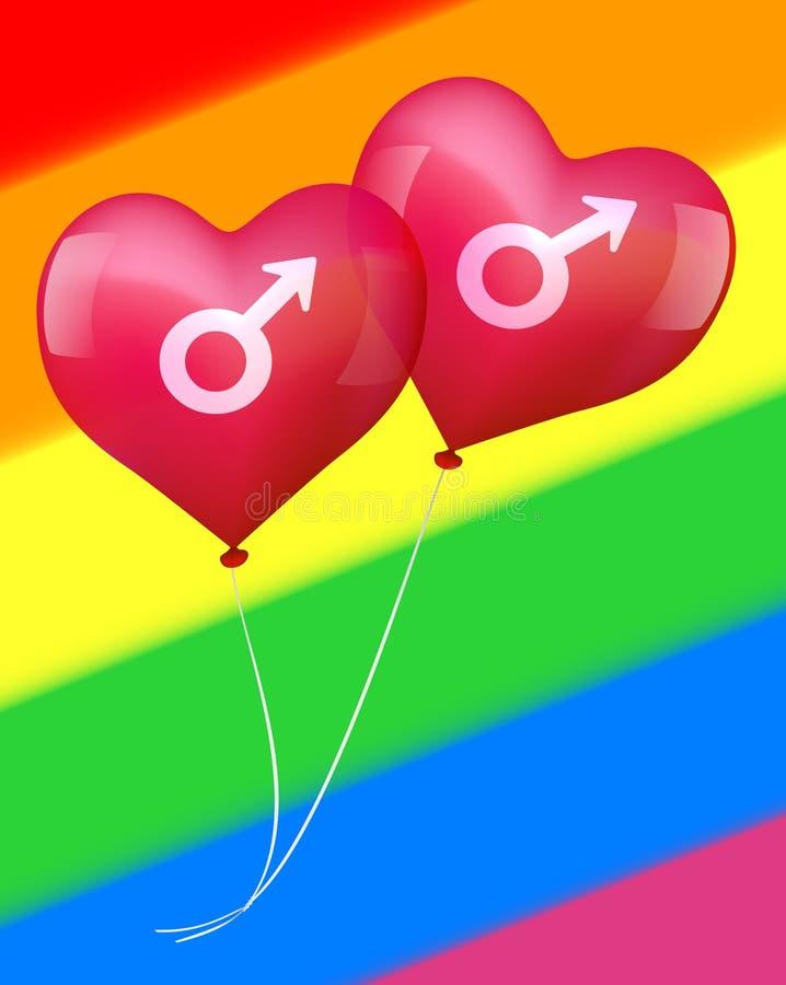 在快乐爱的气球 库存例证