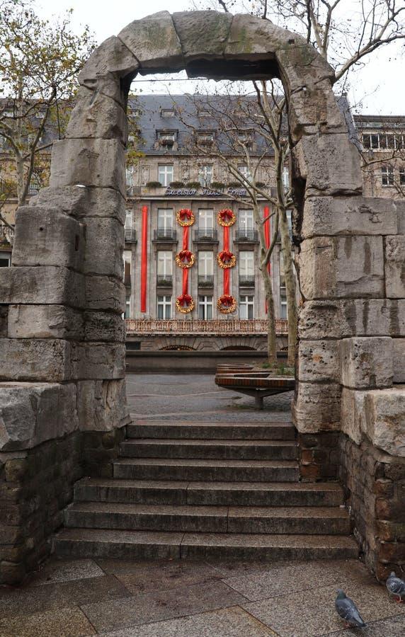 在怡东酒店厄恩斯特的曲拱在Koln,德国 免版税库存照片