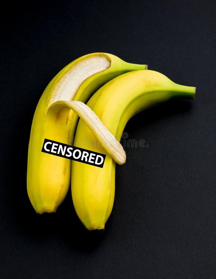在性容忍或拥抱的香蕉 库存图片