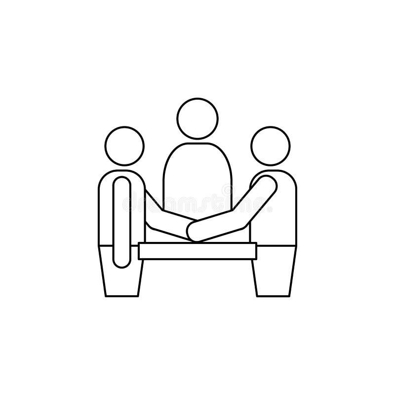在总统选举象的辩论 竞选象的元素 优质质量图形设计 标志和标志汇集 向量例证