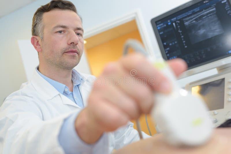 在患者的超声波回声 图库摄影