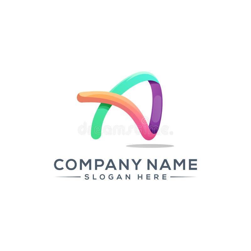 在您的公司的一个商标设计上写字 免版税库存图片