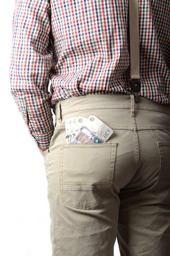 在您的口袋的磅 库存图片