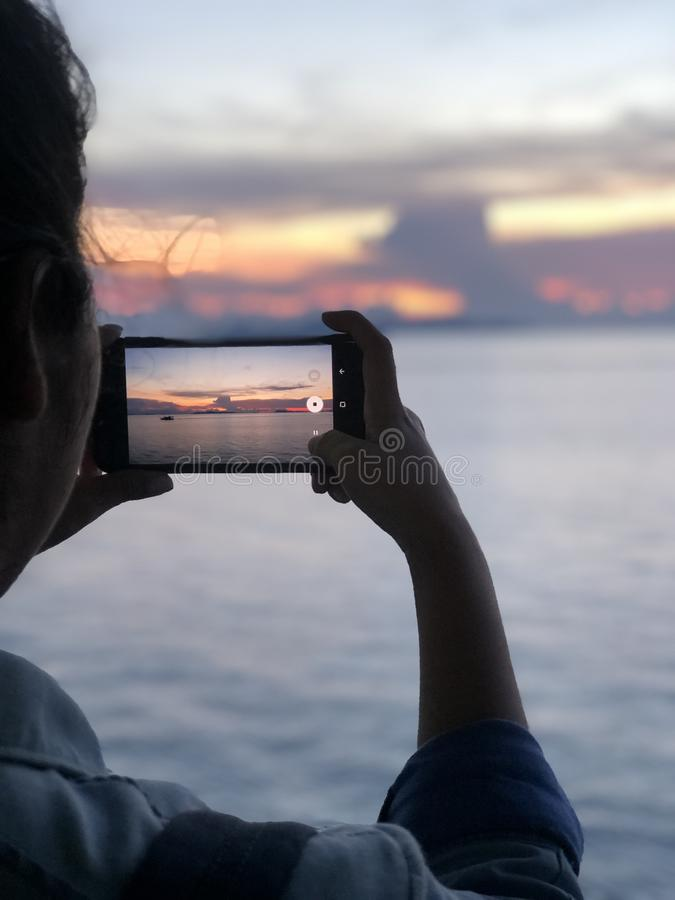 在您的机动性的海图片 库存照片