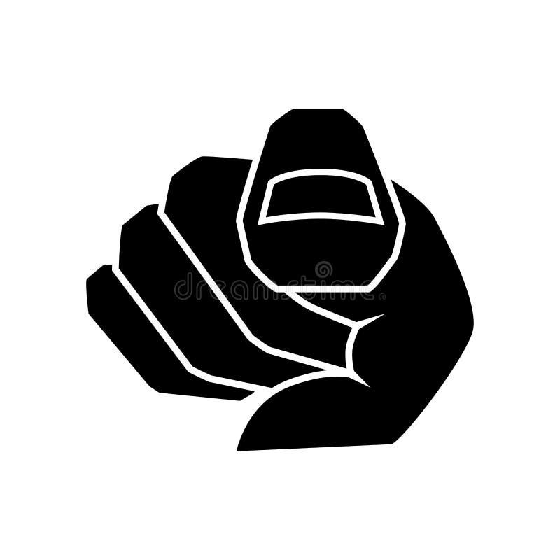 在您的索引指点 手指现有量指向 选择姿态象,方向和显示 也corel凹道例证向量 库存例证