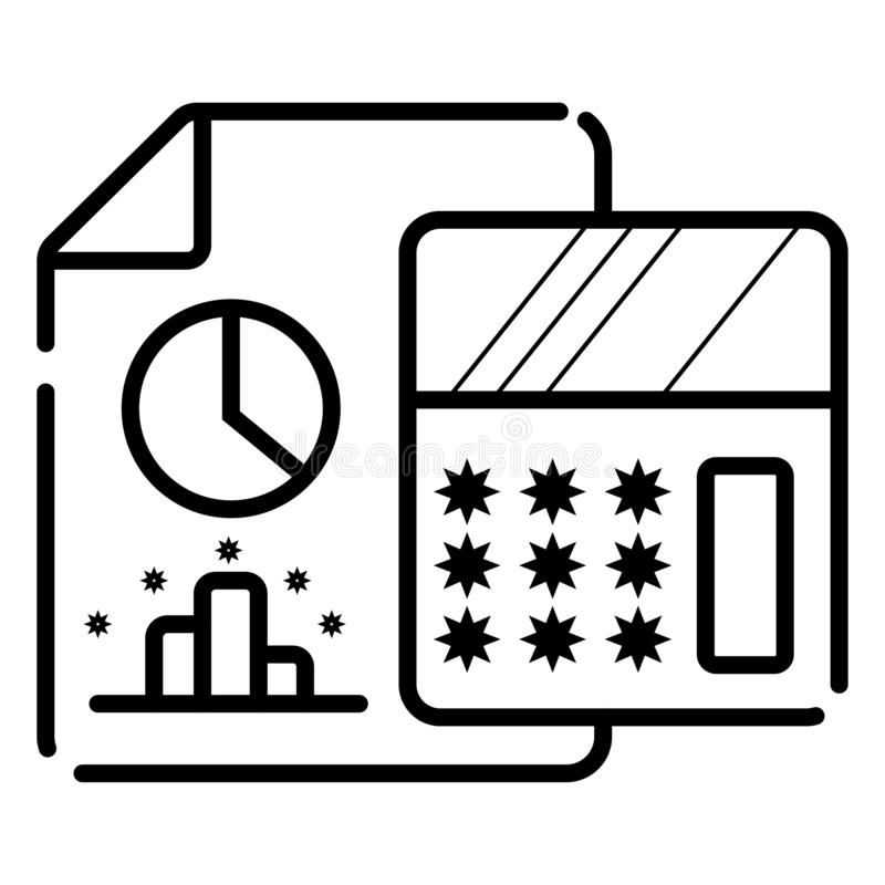 在您的网和流动应用程序设计的,计算器传染媒介偶象概念白色背景隔绝的计算器象 库存例证