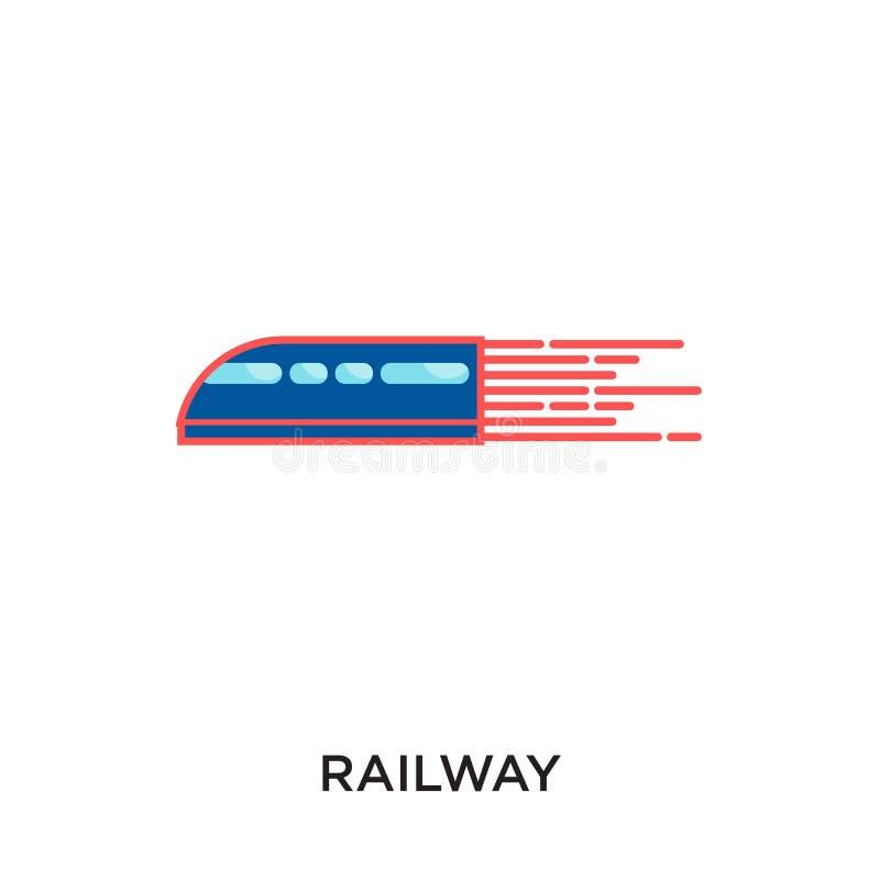 在您的网的白色背景隔绝的铁路商标,流动a 库存例证