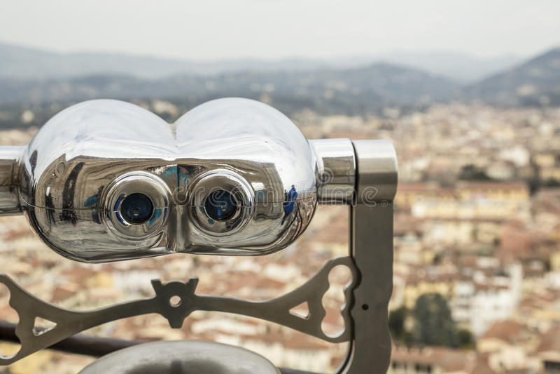 在意大利挤撞观察佛罗伦萨市 库存照片