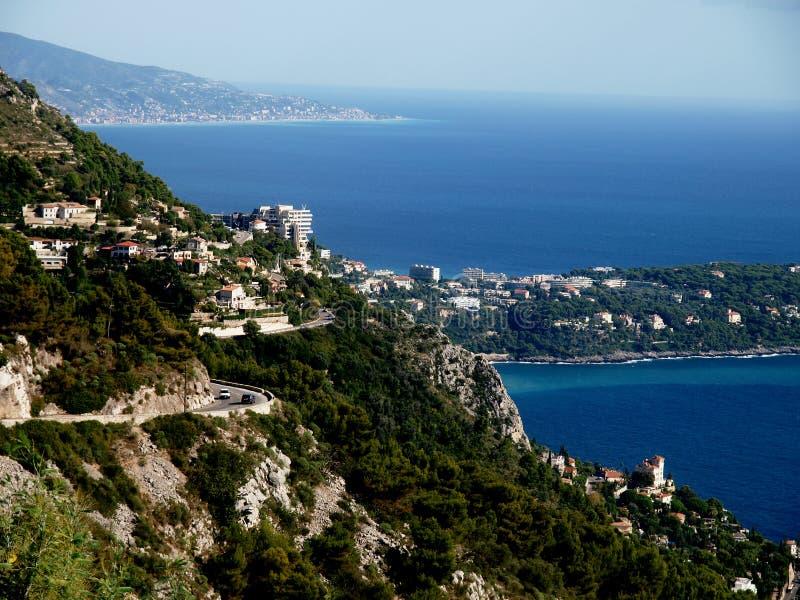在意大利的沿海场面 库存图片