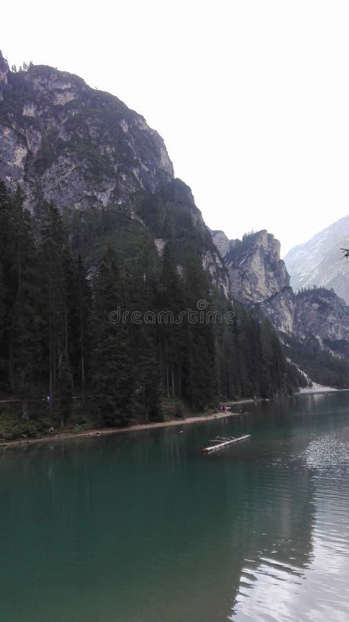 在意大利的湖 免版税库存照片