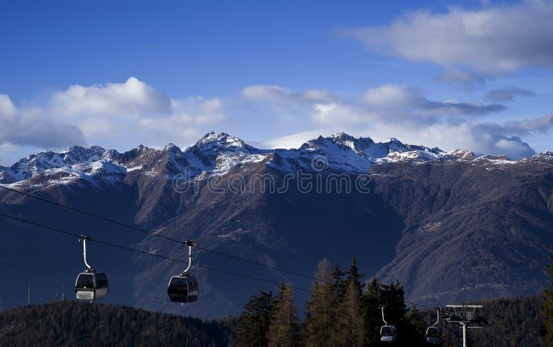 在意大利阿尔卑斯的天空 库存照片
