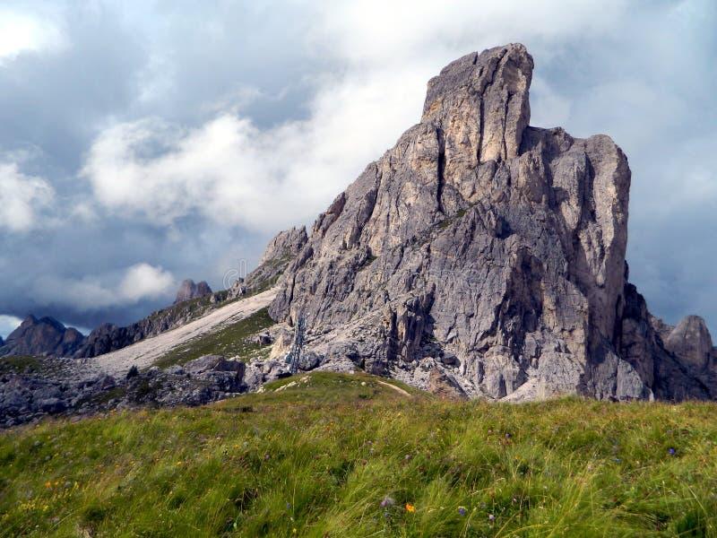 在意大利阿尔卑斯 免版税库存照片
