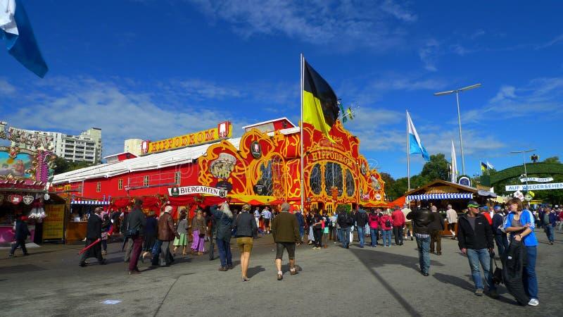 在慕尼黑啤酒节的Hippodrom帐篷 免版税图库摄影