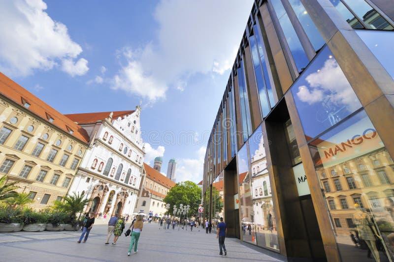 在慕尼黑街道  免版税库存图片