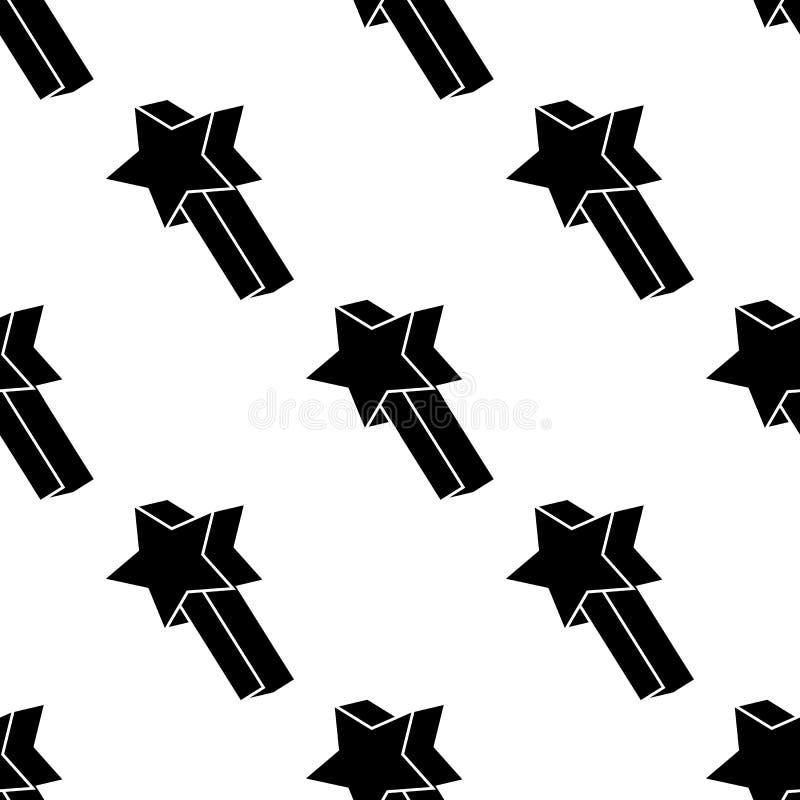 在戏剧象的星号 比赛象的元素流动概念和网apps的 在戏剧象的样式重复无缝的星号可以是 向量例证