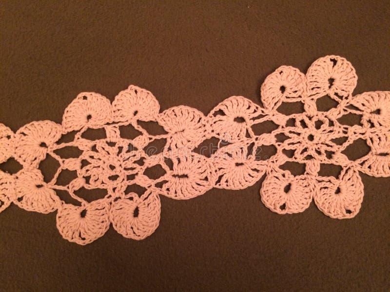 在我的桌上的钩针编织 我的业余爱好 库存照片