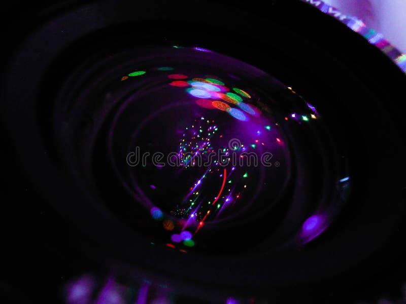 在我的透镜里面的宇宙 库存照片