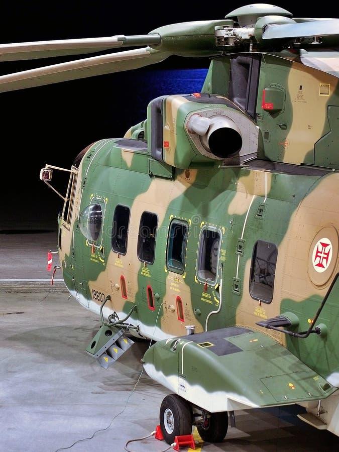 在戒备的EH-101 库存图片