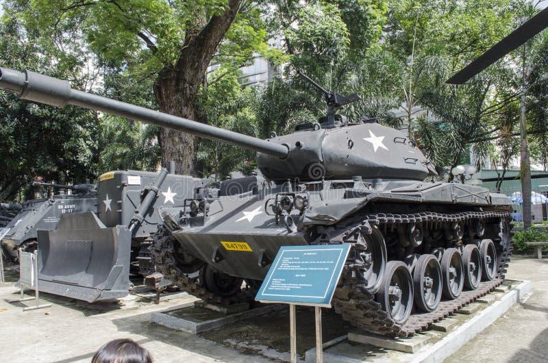 在战争博物馆的坦克 免版税库存图片