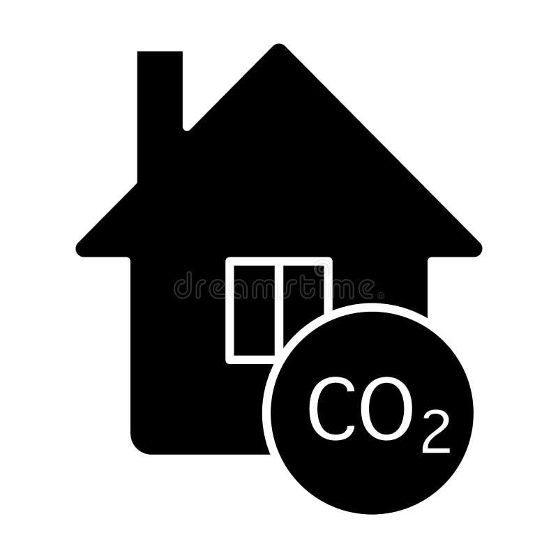 在房子坚实象的污染 r 有二氧化碳纵的沟纹样式设计的家 库存例证