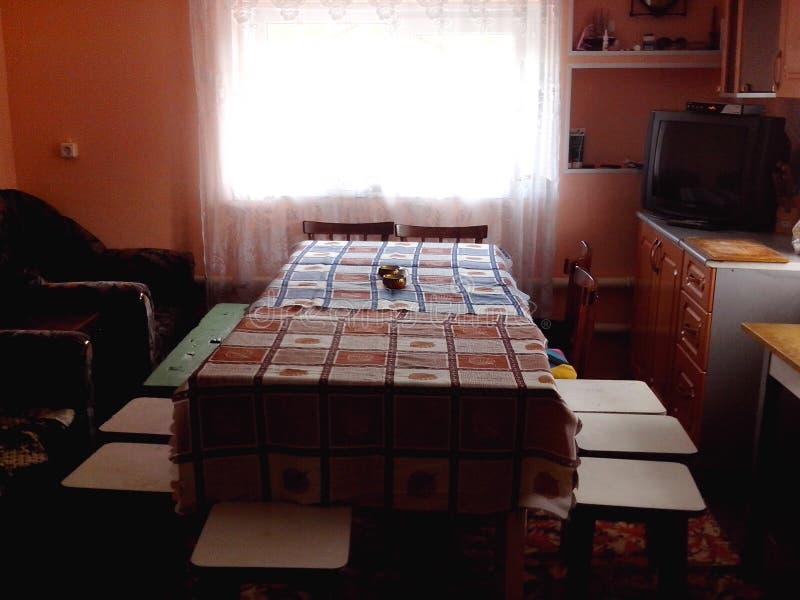 在房子的室内设计的俄国传统风格 库存图片