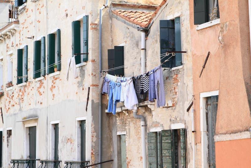 在房子的洗衣店在威尼斯 免版税库存图片