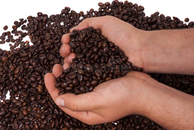 在手上举行的咖啡 免版税库存照片
