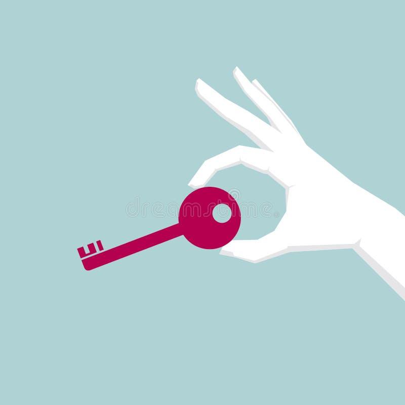 在手中采取钥匙 皇族释放例证