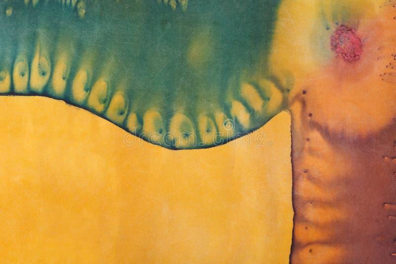 在手工制造丝绸蜡染布的抽象样式 向量例证