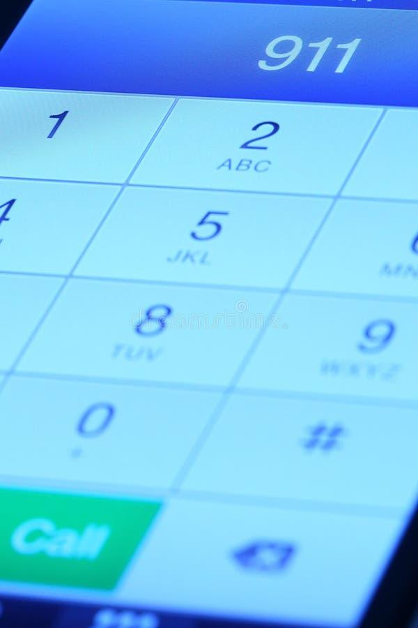 911在手机 免版税库存照片