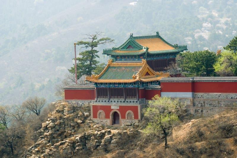 在手段寺庙附近的佛教chengde山 免版税库存照片
