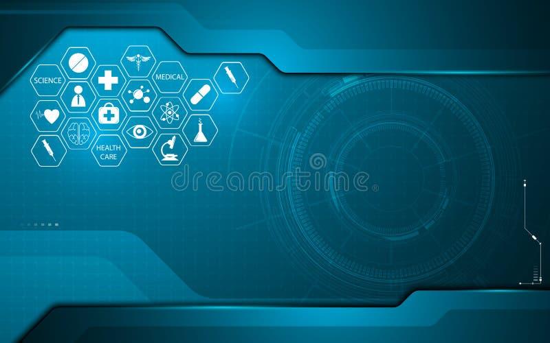 在技术创新构思设计背景模板的抽象医疗医疗保健象 库存例证