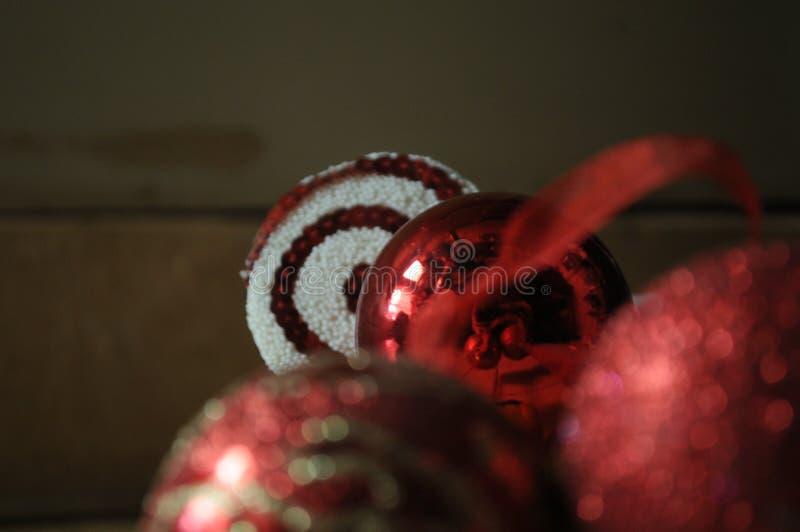 在抽象构成的圣诞节装饰 库存照片