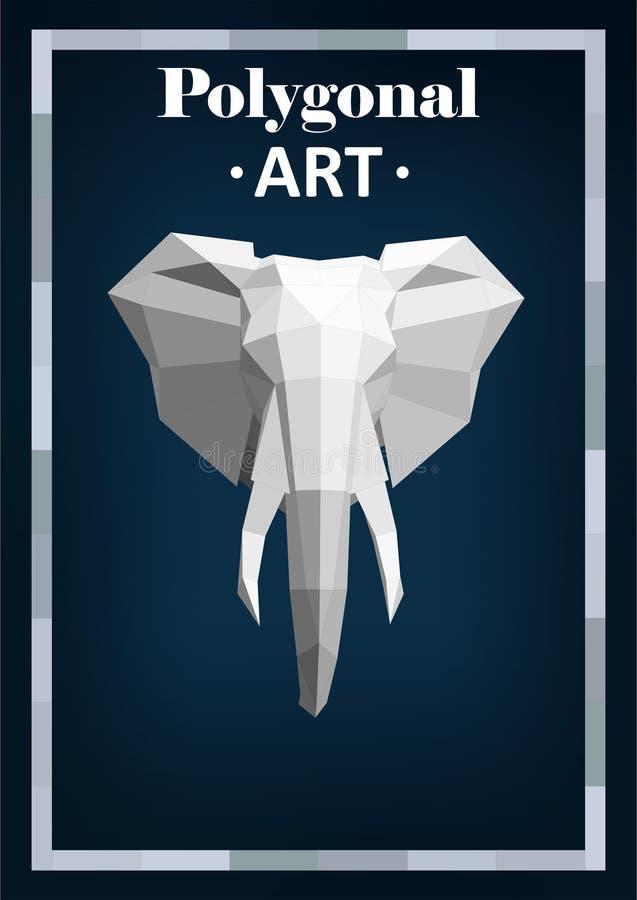 在抽象样式的多角形动物 库存图片