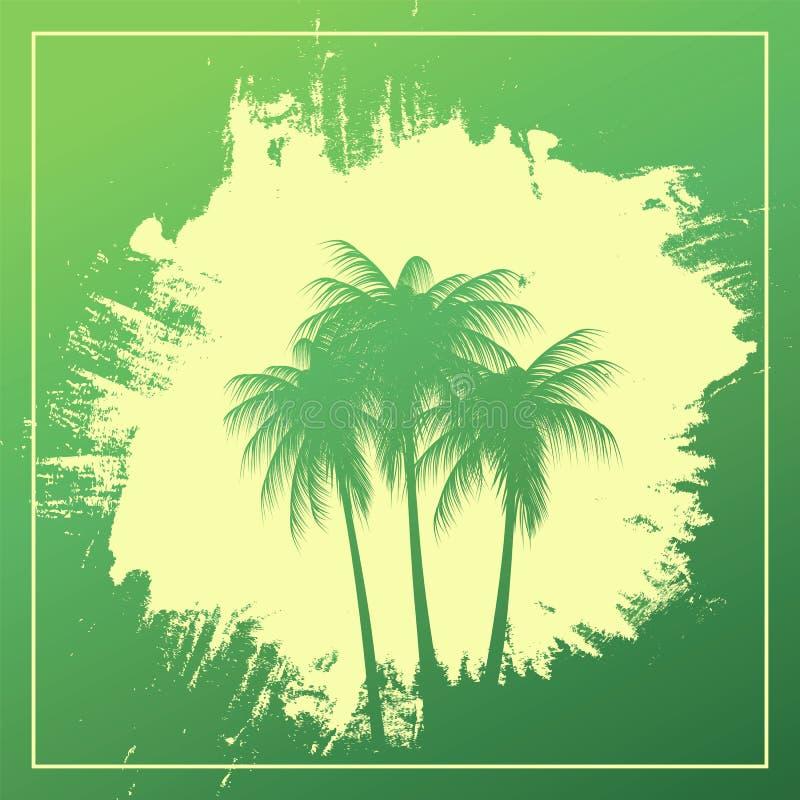 在抽象背景的三棵棕榈树 皇族释放例证