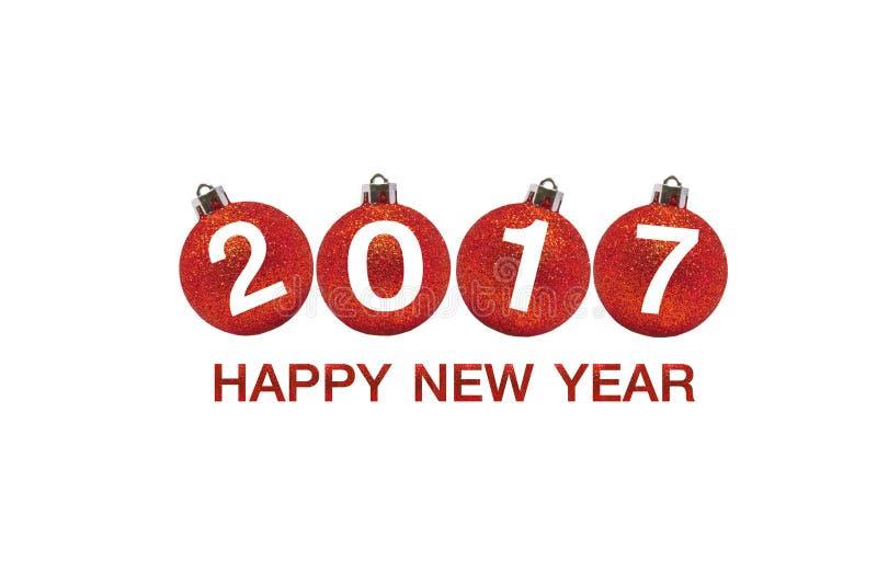 在抽象背景的新年快乐2017年 免版税库存照片