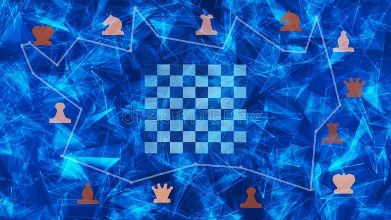 在抽象背景的棋盘形状 库存图片