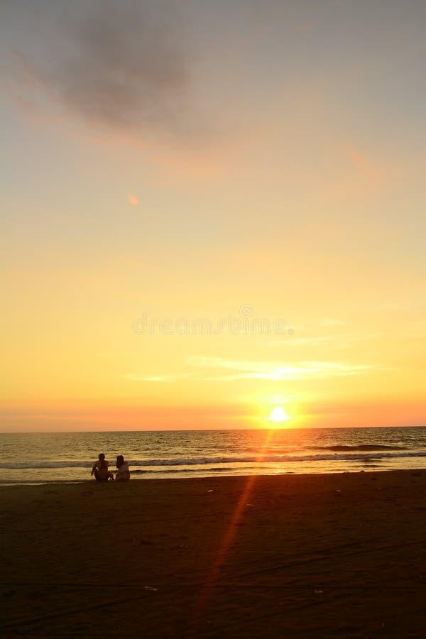 在拉乌尼翁菲律宾的日落 免版税库存照片