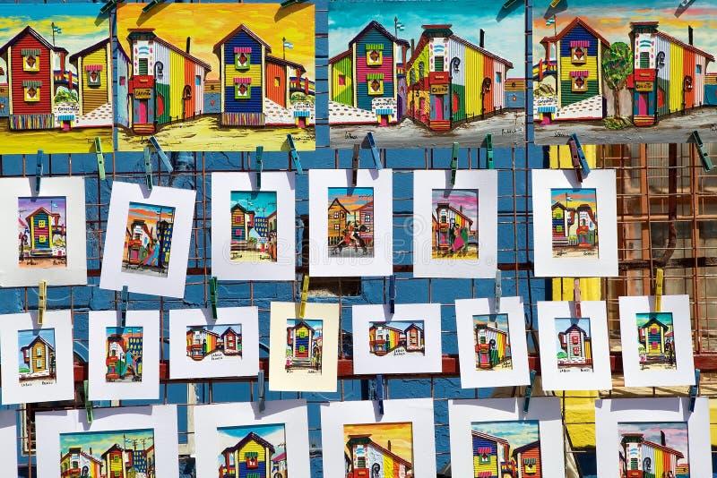 在拉博卡,布宜诺斯艾利斯,阿根廷的绘画 免版税库存照片