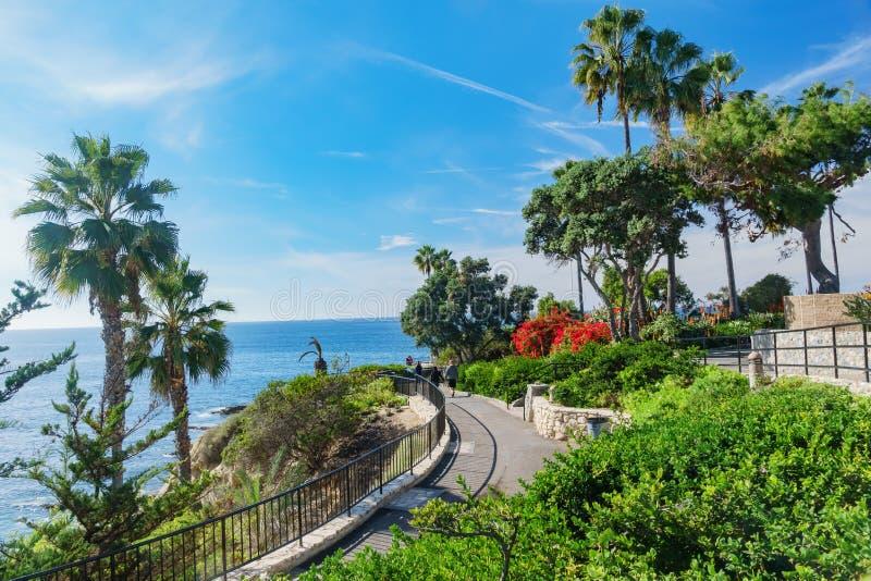 在拉古纳海滩附近的吻合风景 免版税图库摄影