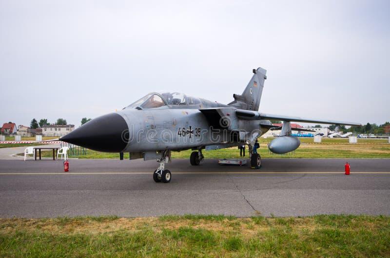 在拉多姆Airshow,波兰的德国龙卷风 库存照片