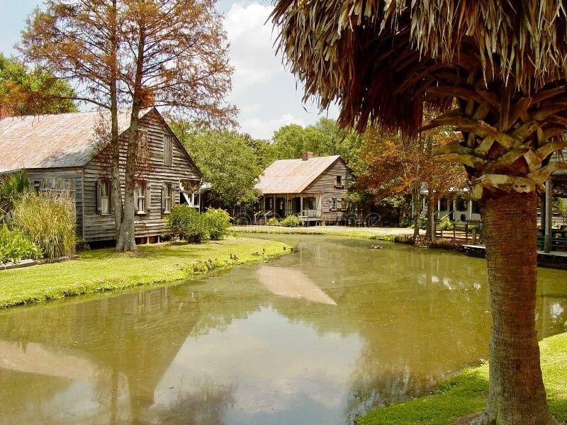 在拉斐特,路易斯安那附近的Cajun村庄 库存照片