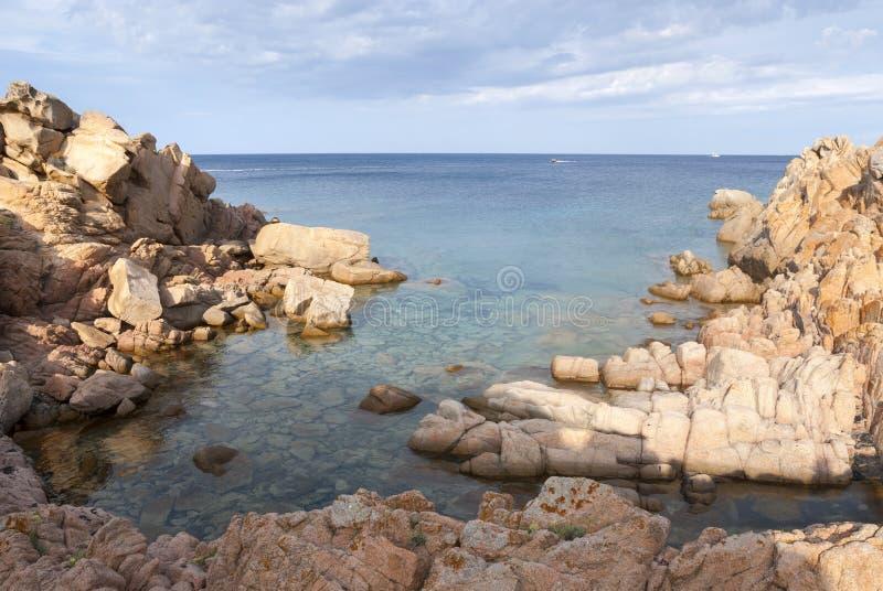 在拉马达莱纳海岛上的风景在撒丁岛 库存图片