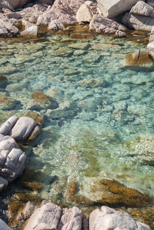 在拉马达莱纳海岛上的风景在撒丁岛 库存照片