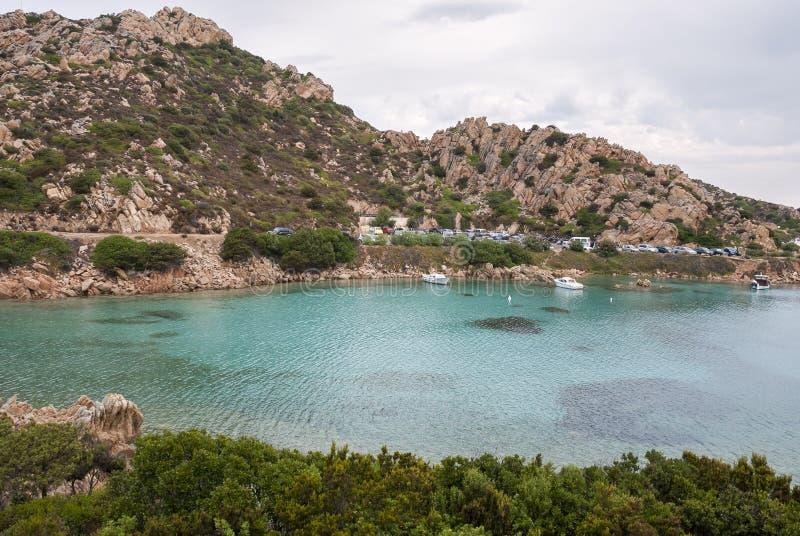 在拉马达莱纳海岛上的风景在撒丁岛 免版税库存照片