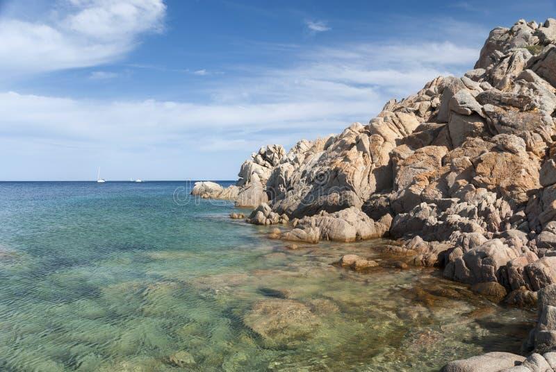 在拉马达莱纳海岛上的风景在撒丁岛 图库摄影