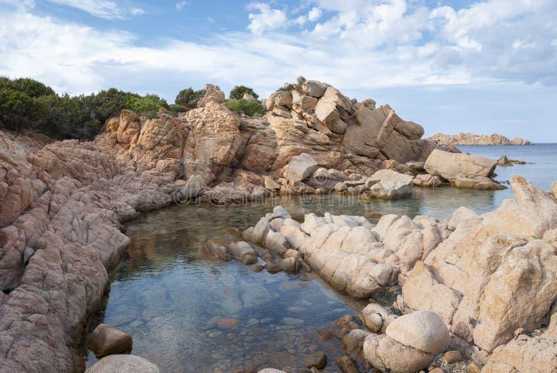 在拉马达莱纳海岛上的风景在撒丁岛 免版税库存图片