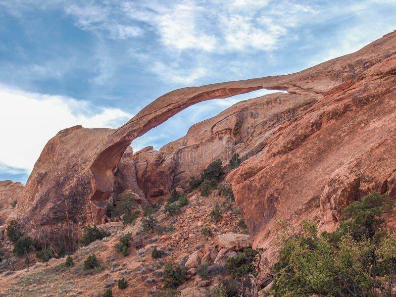 在拱门国家公园的风景曲拱在犹他 免版税图库摄影