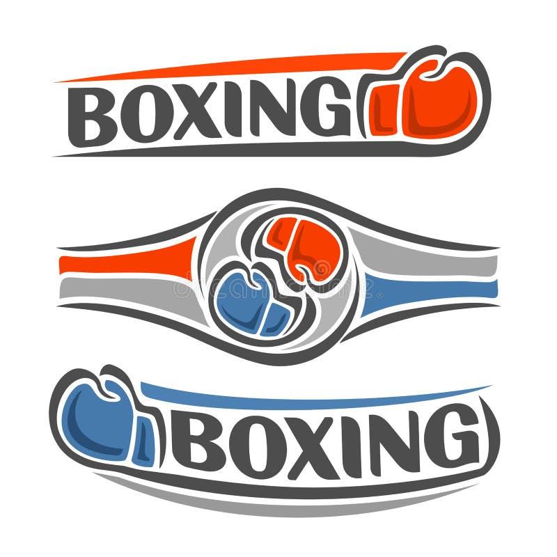 在拳击题材的图象 向量例证